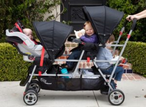Joovy Big Caboose Stand-On Tandem Triple Stroller