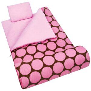 Wildkin Big Dots Pink Sleeping Bag