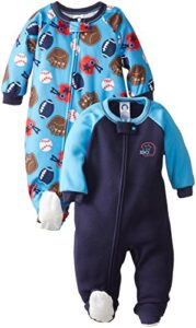 Gerber Boys Infant 2 Pack Blanket Sleeper Set