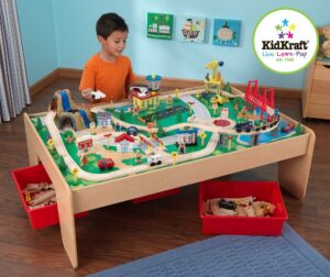 Best Wooden Train Table Set For Kids & Toddlers