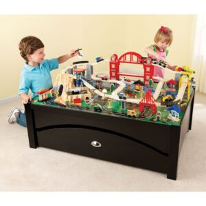 metropolis-train-table-set & Best Wooden Train Table Set For Kids u0026 Toddlers