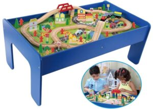 The table is made of MDF material while the track pieces are made of Beech wood. This set is compatible with Brio and ...  sc 1 st  Baby Stuffs and Necessities & Best Wooden Train Table Set For Kids u0026 Toddlers