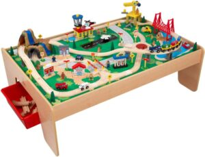 wooden-train-table-set