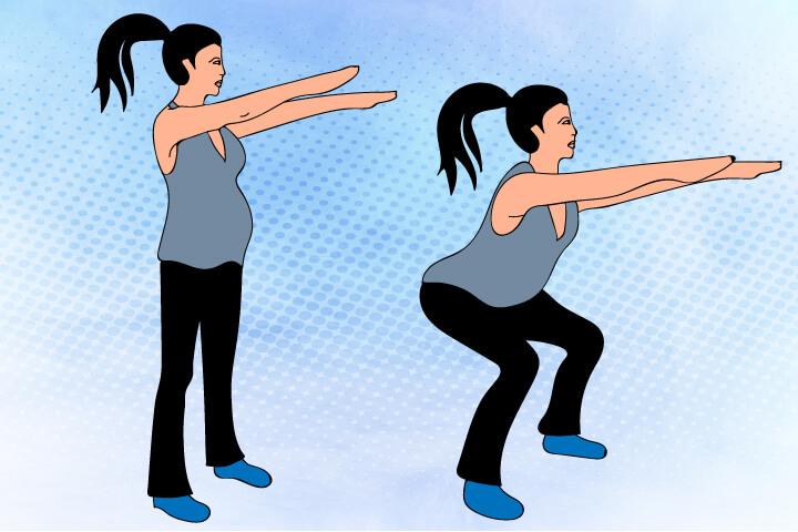 squatting exercise in pregnancy