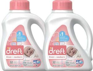 Dreft Stage 1: Newborn Hypoallergenic Liquid Baby Laundry Detergent (HE), Natural for Baby, Newborn, or Infant