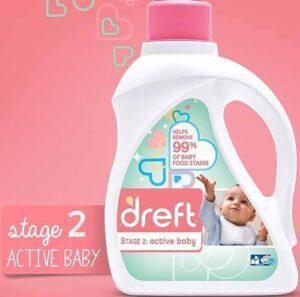 Dreft Stage 2: Active Hypoallergenic Liquid Baby Laundry Detergent for Baby, Newborn, or Infant
