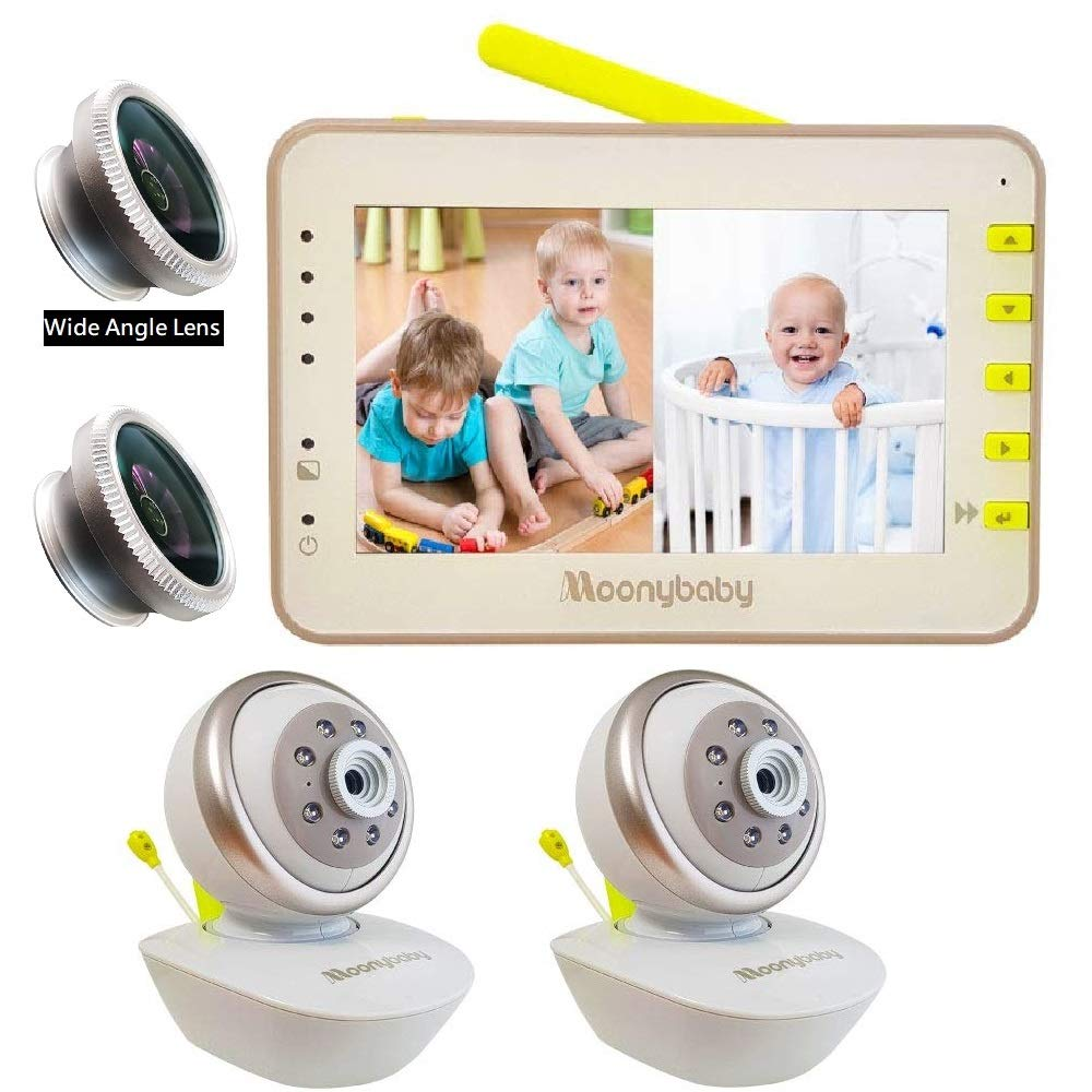 split screen baby monitor with dual audio
