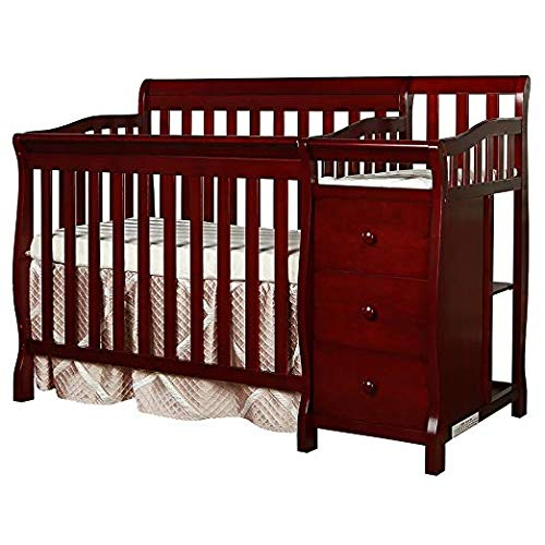convertible cribs with changing table attached