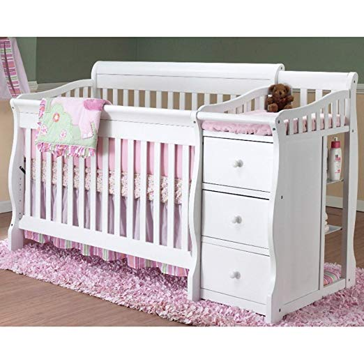 convertible cribs with attached changing table