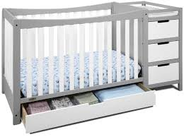 Best Convertible Cribs With Changing Table Attached 2