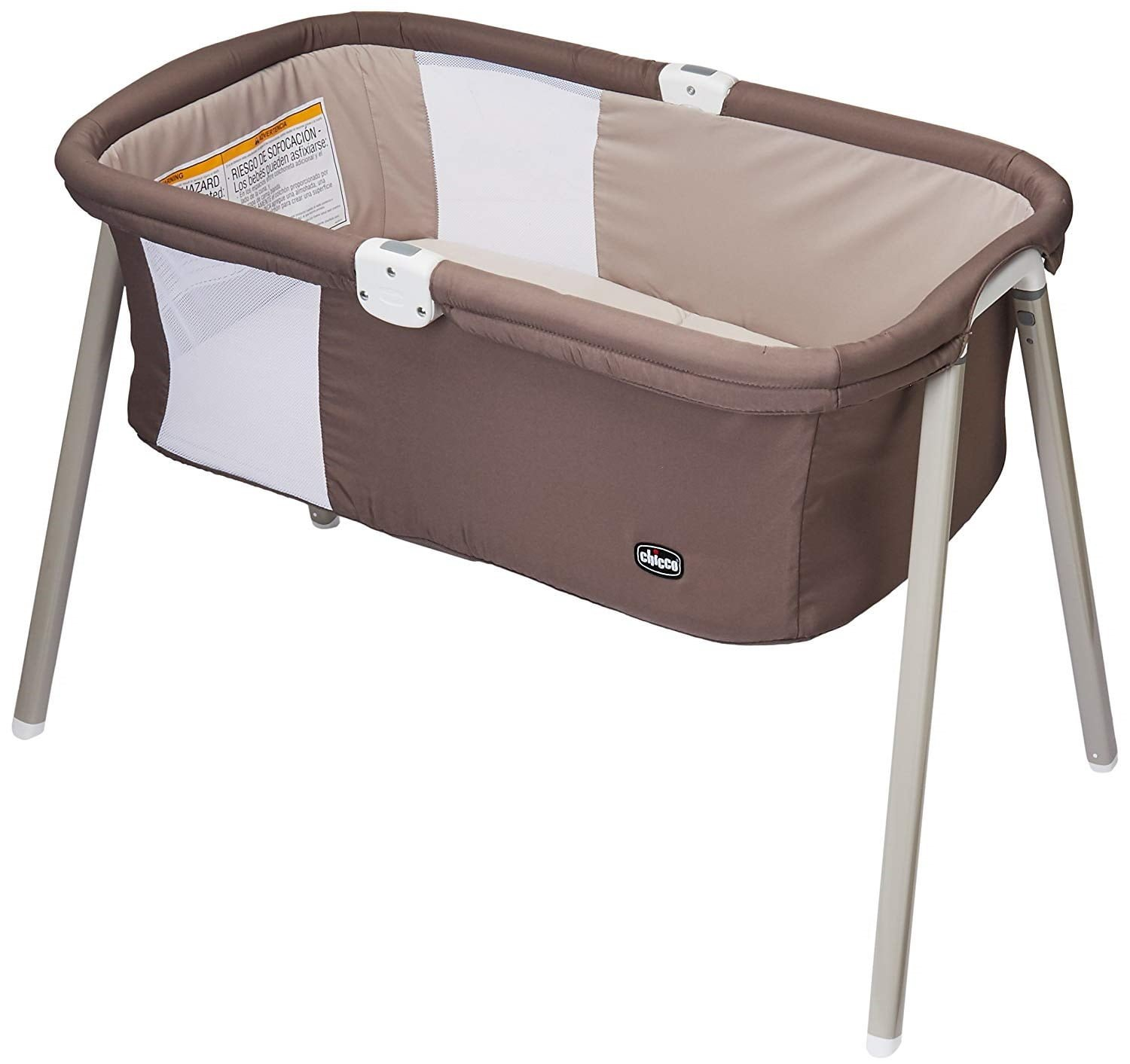 Chicco LullaGo Portable Bassinet-Chestnut