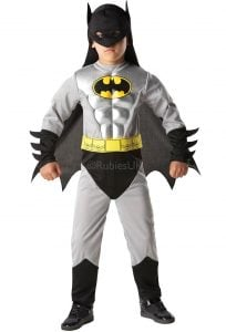 3-4 Years Boys Batman Costume With Armour