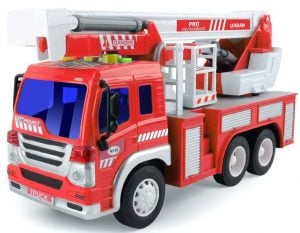 Gizmovine Friction Power Fire Truck Toy with Lights and Sounds