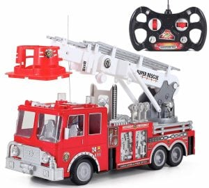 """Liberty Imports 13"""" R/C Rescue Fire Engine Truck"""
