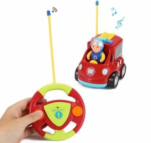 Liberty Imports My First RC Cartoon Car Vehicle 2-Channel Remote Control Toy