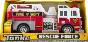 Tonka Rescue Force Lights and Sounds 12-inch Ladder Truck