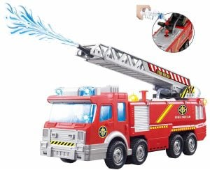 Top Race Fire Engine Truck with Water Pump Spray