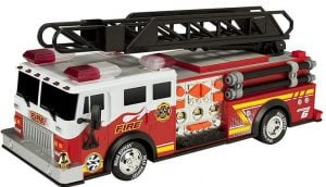"""Toy State 14"""" Rush And Rescue Police And Fire-Hook And Ladder Fire Truck"""