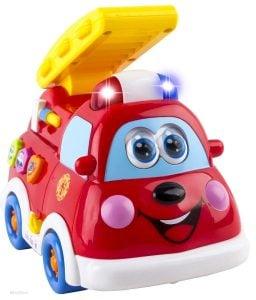 WolVol Cute Mini Electric Fire Truck Toy