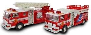 "Wonder Toys 7"" Fire Truck Fire Engine - 2 pack"