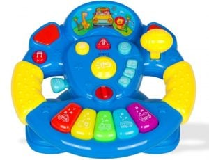 Dimple Children's Play Steering Wheel with a Ton of Buttons