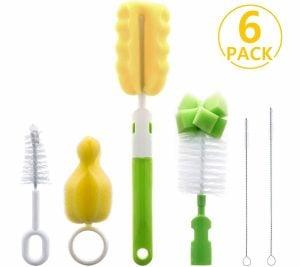 Foonii 6 in1 Bottle Brush Cleaner Kit