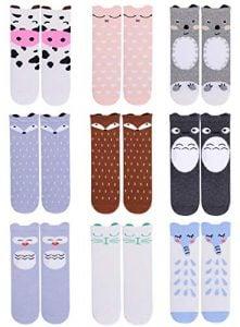 GelWhu Pack of 6 Knee High Cotton Socks