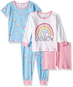 Gerber Baby Girls' 4 Piece Pajama Set