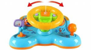 Hellofishly Steering Wheel Toy,Children's Sounding Toy Cars Simulated Driving Steering Wheel