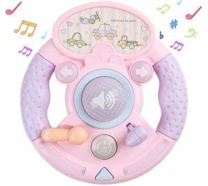 M SANMERSEN Baby Musical Toys, Steering Wheel Toys for Baby Toddlers