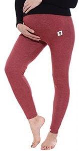 Simplicity Pregnant Women's Cotton Knit Maternity Stretch Leggings