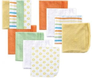 THE LUVABLE FRIENDS Yellow 12 Packs Washcloths