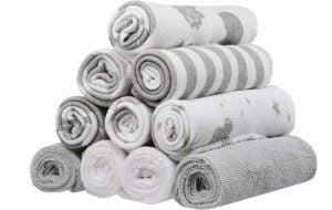 THE SPASILK Grey Celestial Washcloths