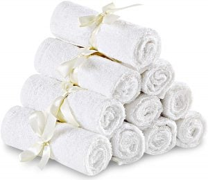 THE UTOPIA TOWELS Premium Bamboo Baby Washcloths