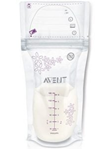 Philips Avent 6 Ounce Clear Breast Milk Storage Bags
